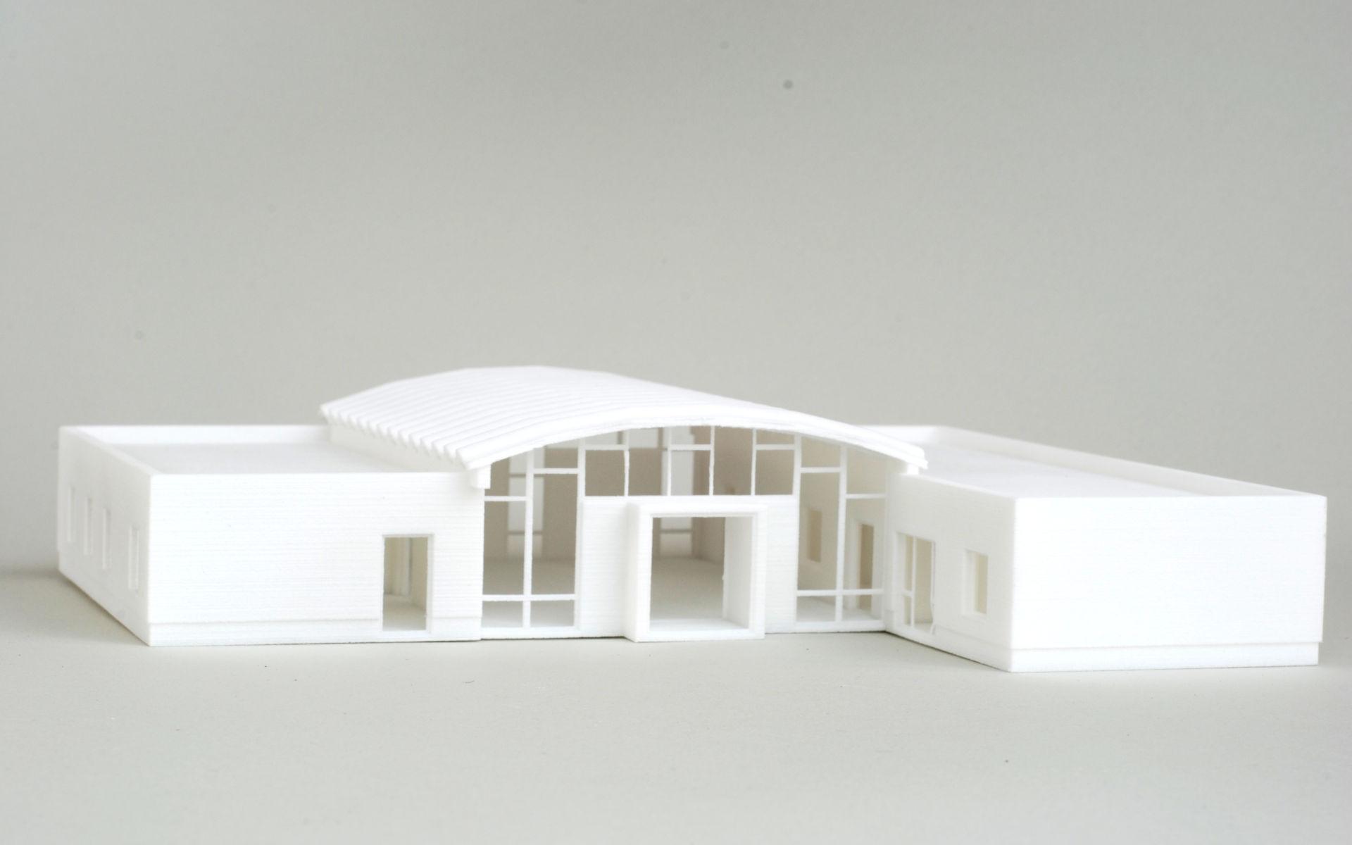 Selektives Lasersintern SLS im Modellbau am Beispiel eines Architektur Modells